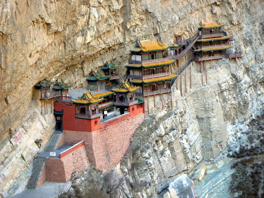 Висячий монастырь Сюанькун-сы (провинция Шаньси), Китай