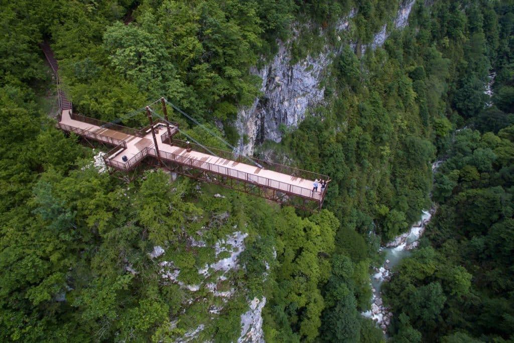 Каньон Окаце и Водопады Кинчха, Грузия