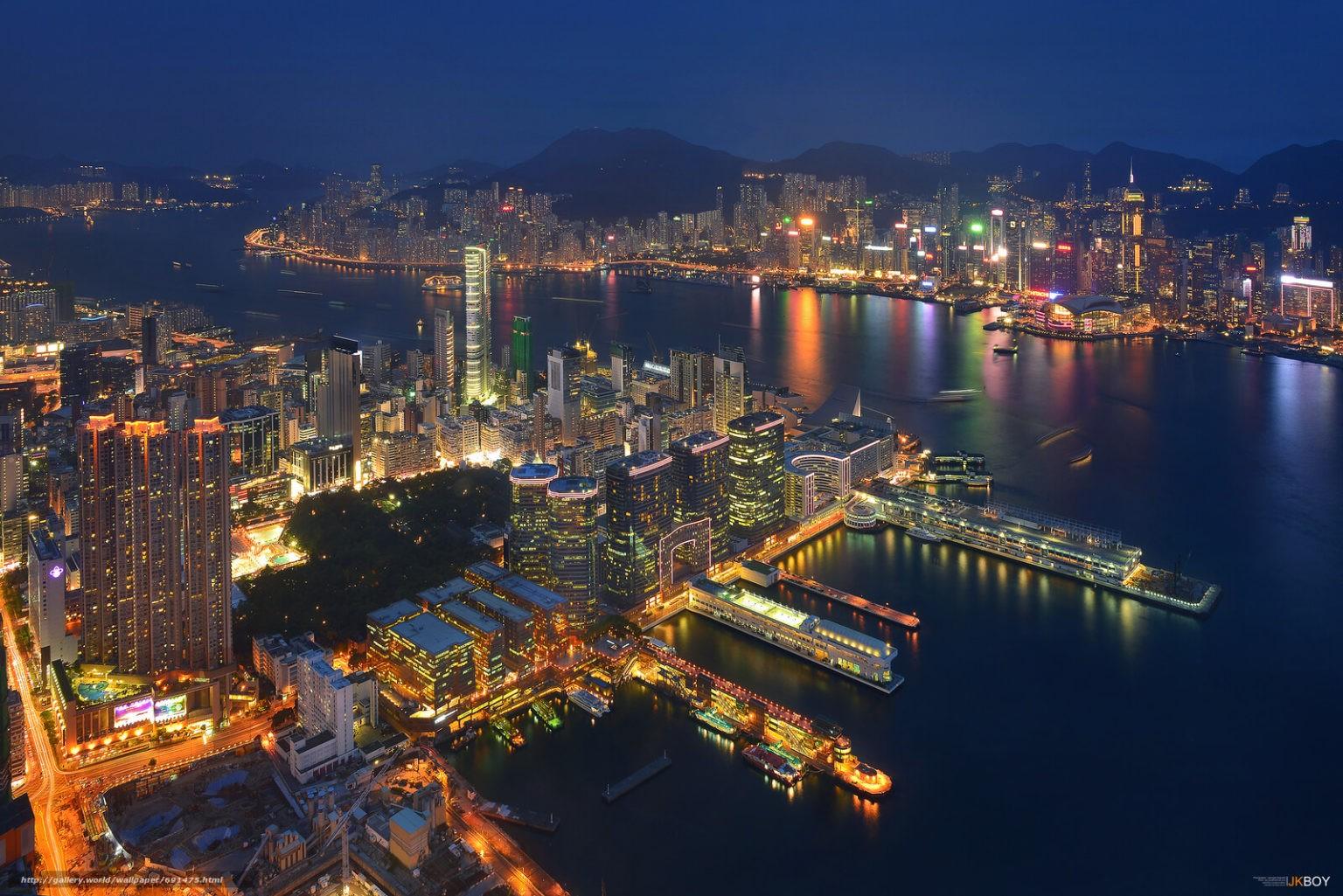Гонконг и бухта Виктория, Китай