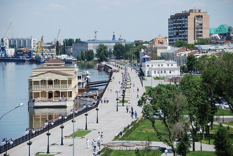 Городская набережная, Астрахань