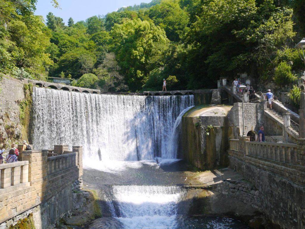 Новоафонский водопад, Новый Афон