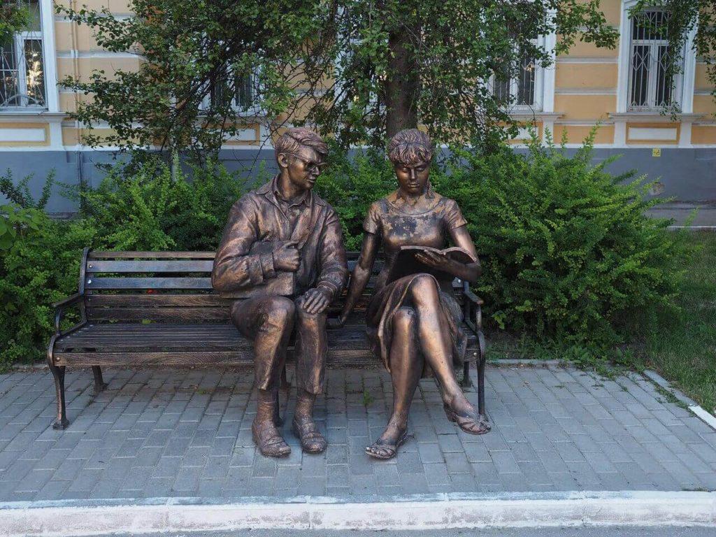 Памятник Лида и Шурик, Рязань