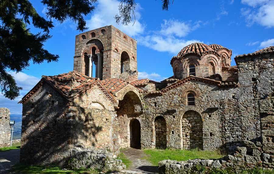 Древний город Мистра, Спарта
