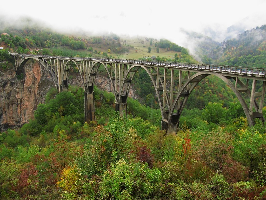 Каньон реки Тары и Мост Джурджевича (национальный парк Дурмитор)