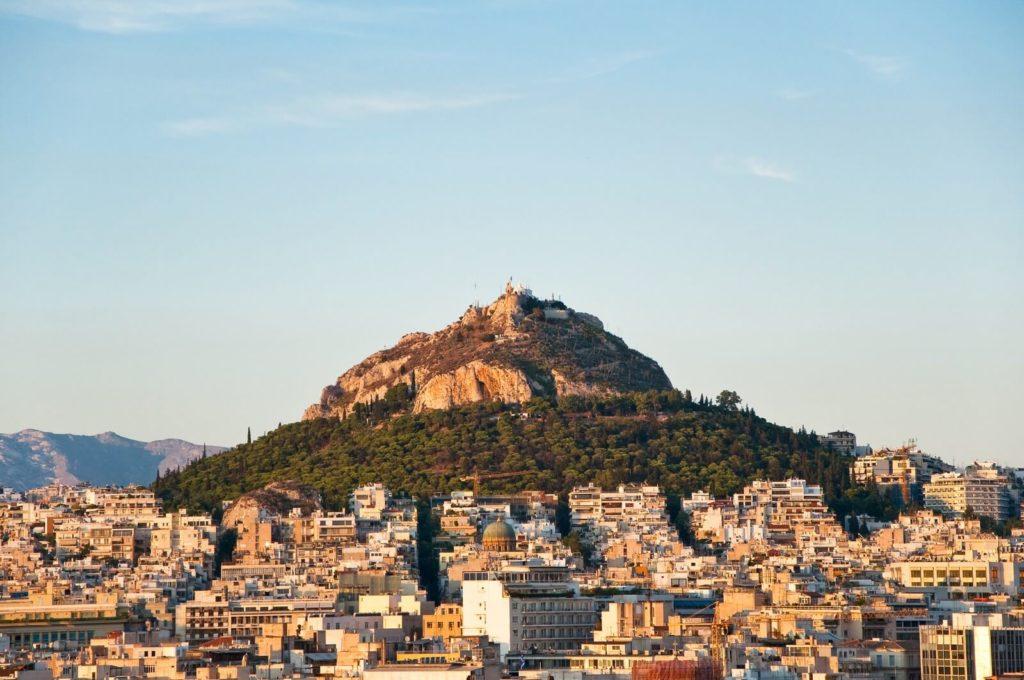 Гора Ликавит, Афины